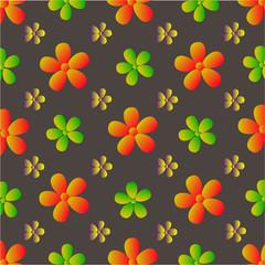 векторные цветы шаблон