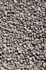 Crushed stone, brown gravel closeup
