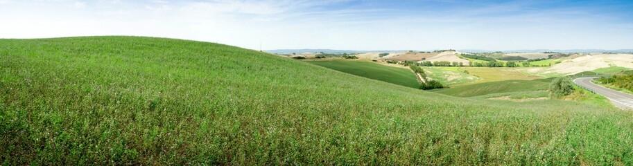 Panorama prairie toscane
