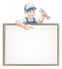 Mechanic or plumber sign