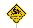 Share the Road Warning Sign