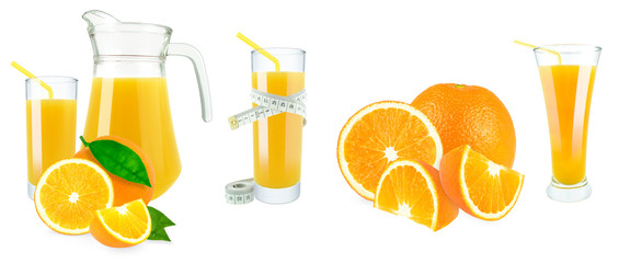 orange juice and meter