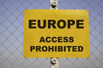 Europe prohibited