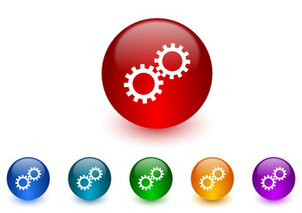 gears icon vector set
