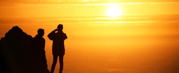 controluce al tramonto