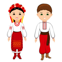 Children in Ukrainian national costumes 2