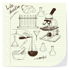 Laboratory Equipment Doodle