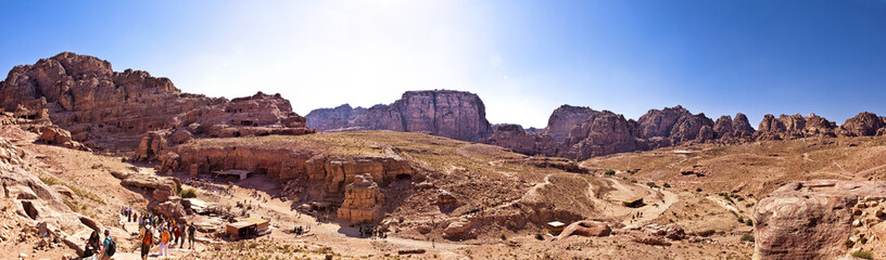 Mountains of the ancient city of Petra in southern Jordan