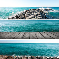 panorama di mare collage