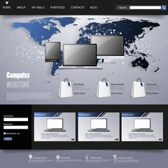 Website Template Eps 10.