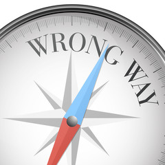 compass wrong way