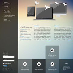Design of the menu for a website. Creative web design