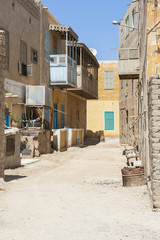 Old traditional buildings in egyptian town