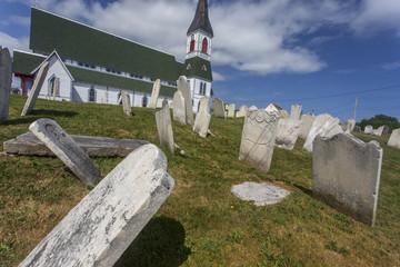 falling gravestones, Trinity, Newfoundland