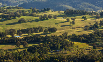 Landscape view of Blue Mountains national park.