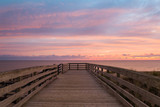 Boardwalk on Cavendish beach at the crack of dawn poster