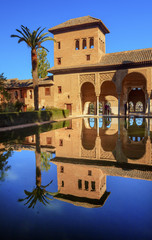 Alhambra Courtyard El Partal Pool Reflection Granada Andalusia