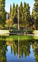 Alhambra Courtyard El Partal Garden Pool Granada Andalusia