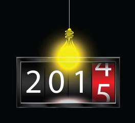 2015 light bulb background