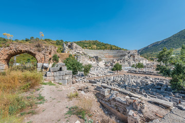 Amphitheater in Ephesus (Efes), Turkey