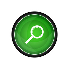 Zoom search vector icon, button