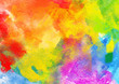Bright Colorful Watercolor Background.