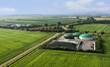 Leinwandbild Motiv Moderne landwirtschaftliche Biogasanlagen