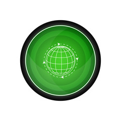 Global solution vector icon, button