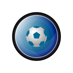 Soccer ball vector icon, button