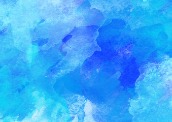 Indigo Colorful Watercolor Background.