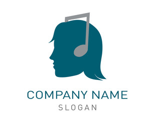 Woman music logo