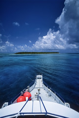 Caribbean Sea, Belize, view of one of the many Belize islands