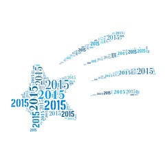Happy new year 2015 word cloud