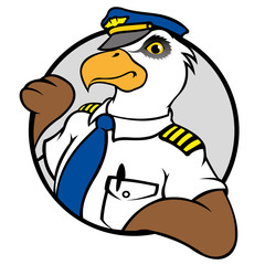 Eagle symbol with a pilot's uniform