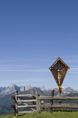 Holzkreuz im Karwendel
