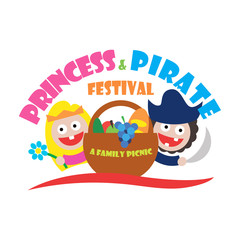 logo princess and pirate festival a family picnic