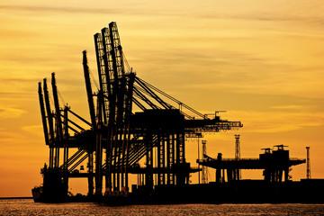 Gru in porto di Trieste