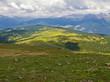 canvas print picture - Almwiesen auf der Lüsner Alm, Südtirol