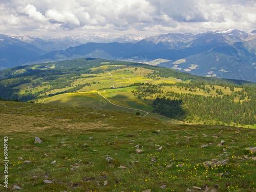 canvas print picture Almwiesen auf der Lüsner Alm, Südtirol