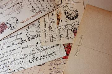 old vintage letters grunge style