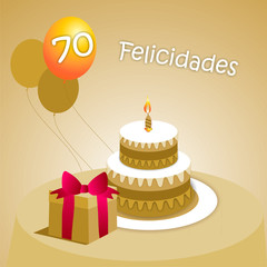 Felicitación 70 ESP