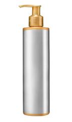 Dispenser pump cosmetic or hygiene, plastic bottle of gel