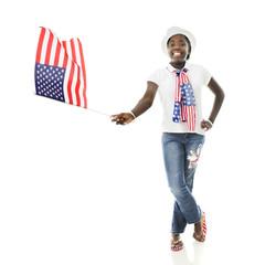 Happy Flag-Waving Tween