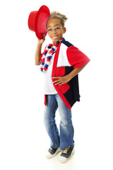 Young Patriotic Hat-Tipper