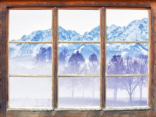 Fensterblick Untersberg