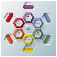 Modern Hexagon Geometric Shape Business Infographic