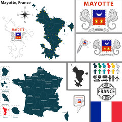 Map of Mayotte, France