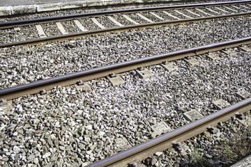 Train routes stones