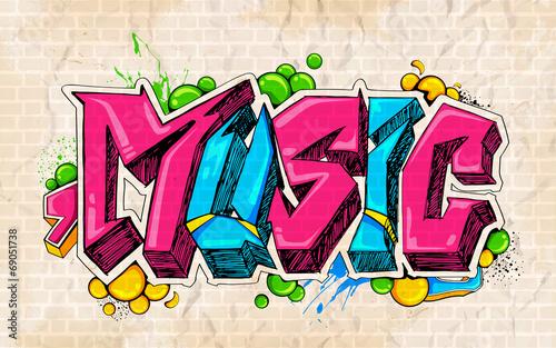 Graffiti style Music background - 69051738