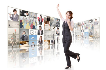 business concept wall